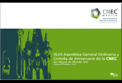 XVI Asamblea General Mensual CNEC